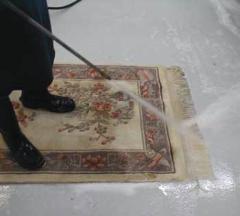 Wool Oriental Rug Cleaning Northern VA rinse